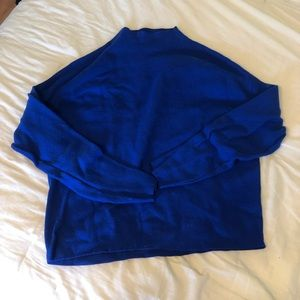 H&M Blue Mock neck